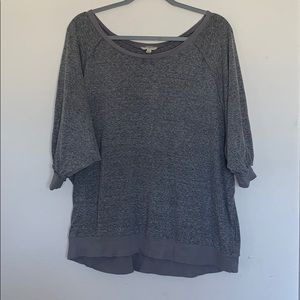 4/$25 Umgee Grey Oversized 3/4 Sleeve Blouse Sz Md